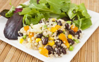 Zwarte bonen met quinoa