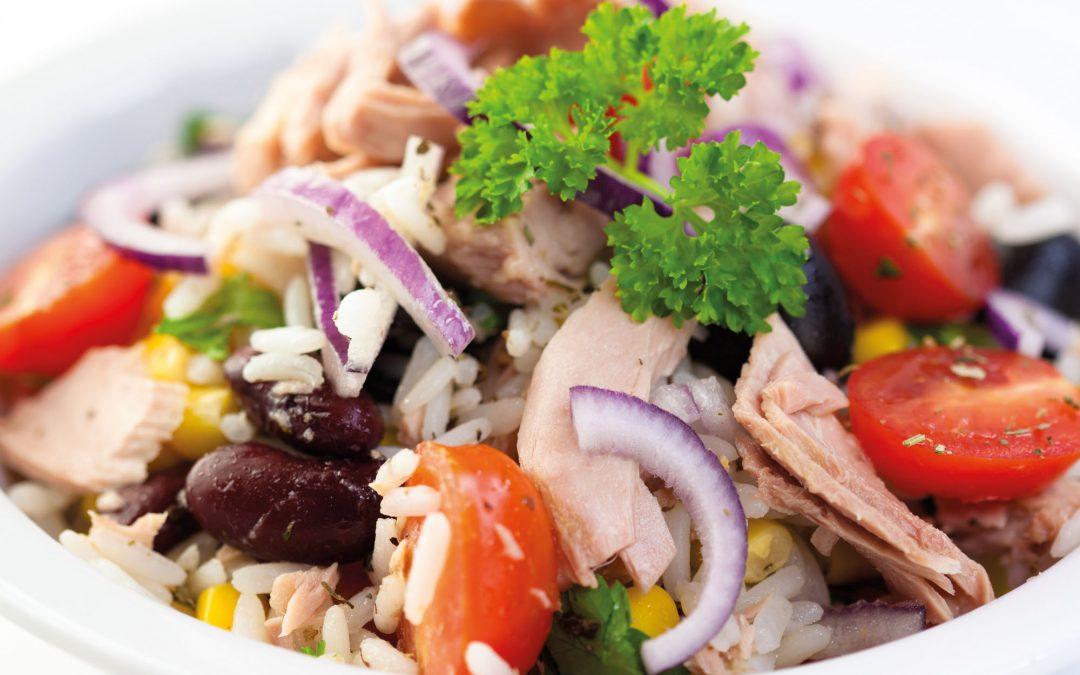 Rode kidneybonen salade met tonijn