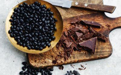 Zwarte bonen en chocola