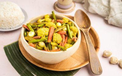 Molukse Atjar met veel groente