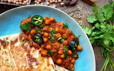 Kruidige kikkererwten curry